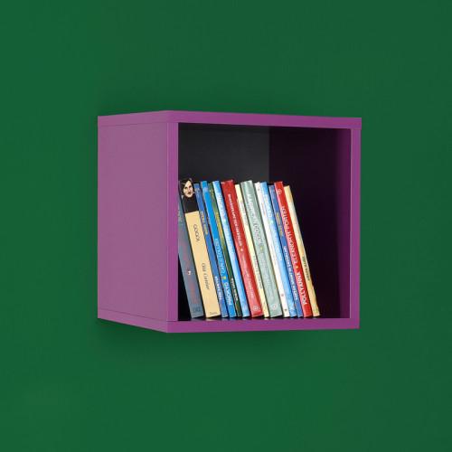 מדף קוביה דגם קיובי - AF033 בצבע סגול