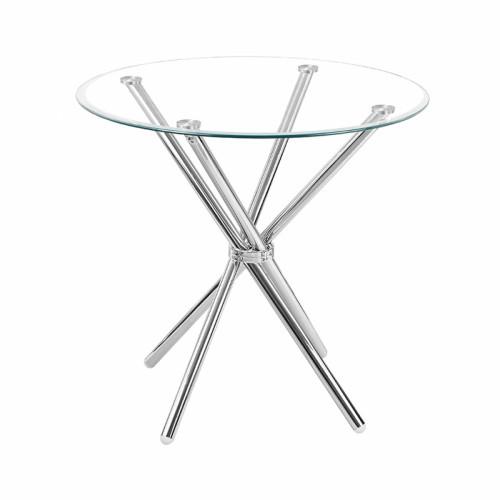 שולחן אוכל זכוכית עגול 80 ס