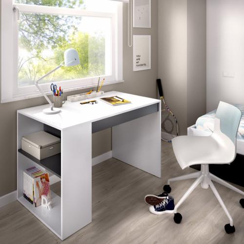 שולחן כתיבה עם תאי אחסון תוצרת ספרד דגם לאו לבן