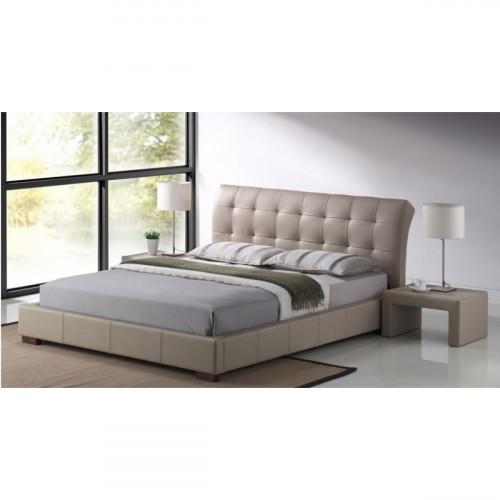 מיטה זוגית מרופדת   140/190דגם LUCIANO  בצבע מוקה