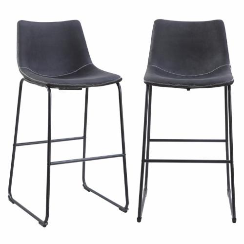זוג כסאות בר עם רגלי מתכת דגם אלבמה