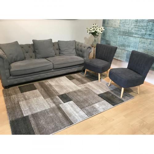 שטיח אומגה רטרו קוביות גדולות חום בז' 160X230
