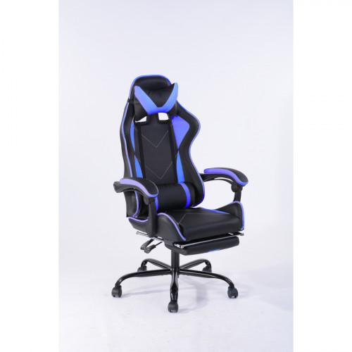 כיסא גיימר-פרו דגם טוד  לבית או למשרד שחור-כחול