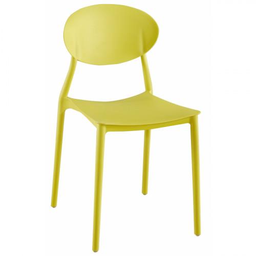 כיסא לפינת אוכל דגם GLASGOW צהוב