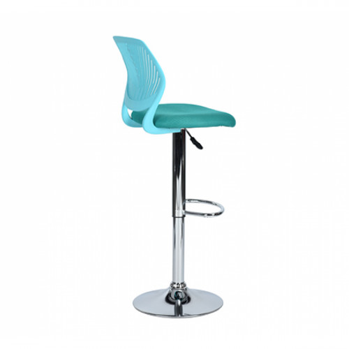 כסא בר עם מושב מרופד ונוח בצבע טורקיז