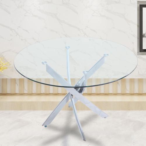 שולחן אוכל זכוכית עגול 120 ס