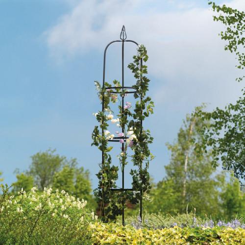 אובליסק - עמוד ייחודי ממתכת לתמיכת צמחים מטפסים לעיצוב הגינה דגם 7701