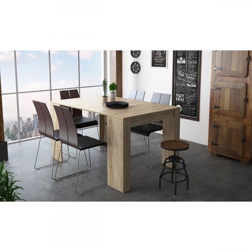 שולחן קונסולה מודולרי DOMINIC אלון מט נפתח עד 3 מטרים