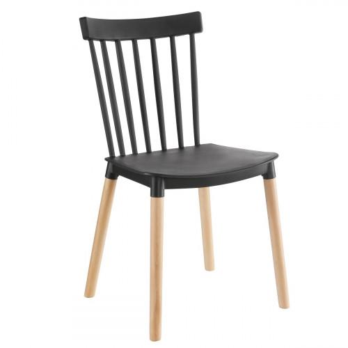כיסא לפינת אוכל דגם BISTROT שחור