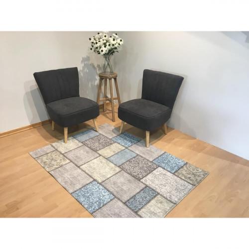 שטיח פלאזה טלאים תכלת 120X170