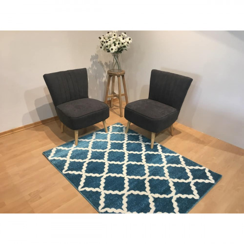 שטיח מטרו רשת תכלת 120X170