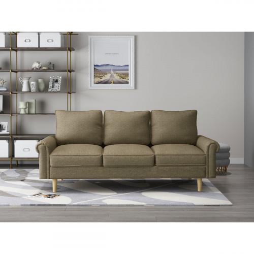 ספה תלת מושבית ARTO חום בהיר
