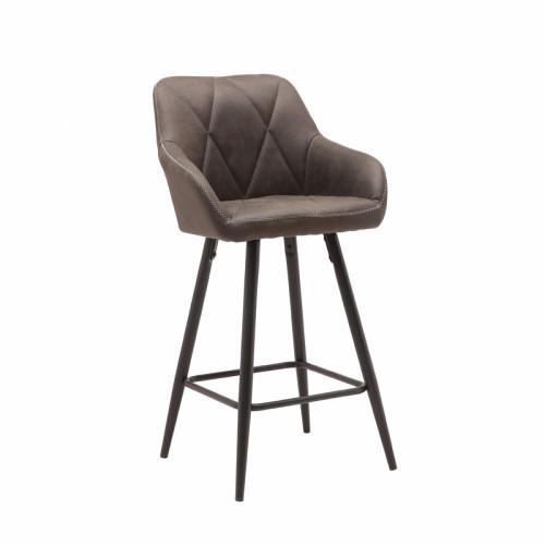 כיסא בר עם רגלי מתכת דגם רגב אפור – משלוח חינם!