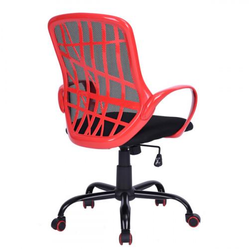 כיסא היי-טק מעוצב למשרד או לתלמיד אדום