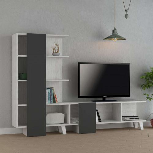ארון טלוויזיה Cago אפור/אלון מולבן 192 ס