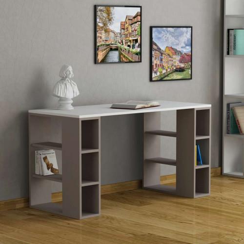 שולחן כתיבה Colmar מוקה/לבן מסדרת Decoline