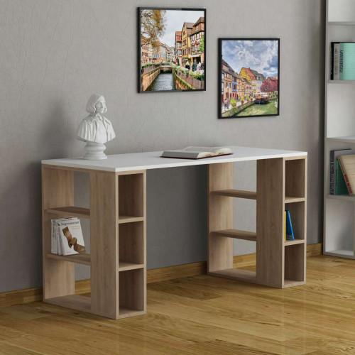 שולחן כתיבה Colmar אלון/לבן מסדרת Decoline