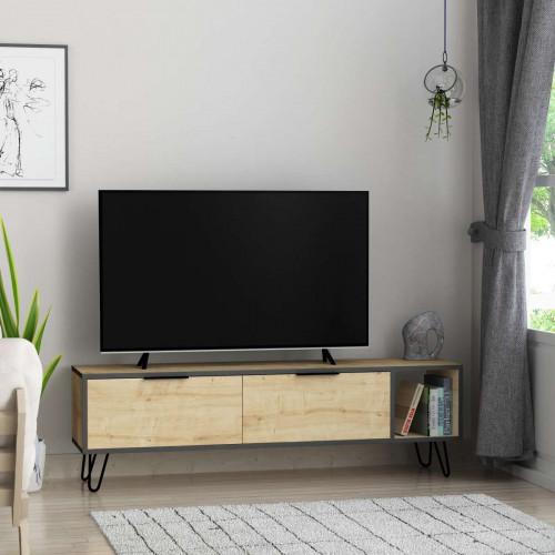 מזנון טלוויזיה Furoki אלון/אפור 150 ס