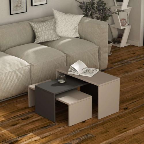 שולחן סלון Kanta אפור/מוקה מסדרת Decoline