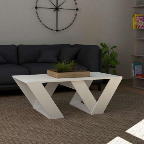 שולחן סלון Pipra לבן מסדרת Decoline