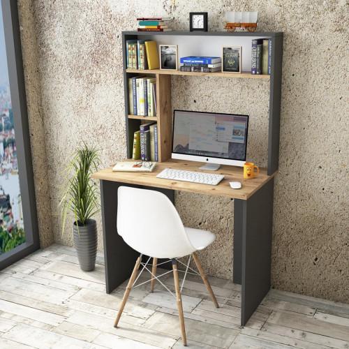 שולחן כתיבה Brandon BR2-AA אלון/שחור מסדרת Peyton