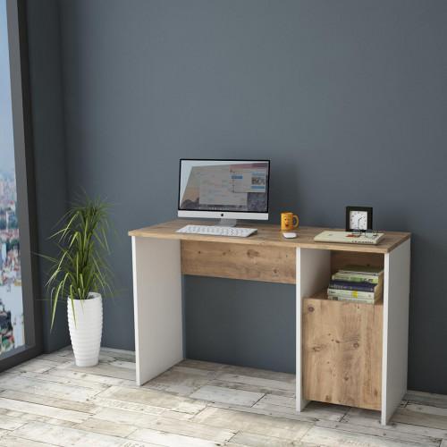 שולחן כתיבה Ceto-One CT7-AW אלון/לבן מסדרת Peyton