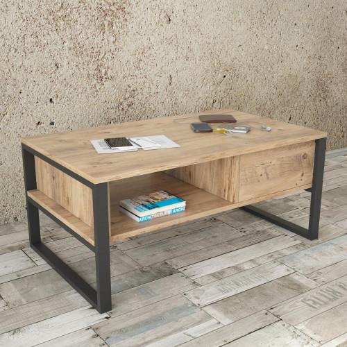 שולחן סלון Mano-Coffee ML34-A אלון מסדרת Peyton