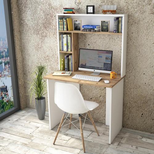 שולחן כתיבה Brandon BR2-AW אלון/לבן מסדרת Peyton