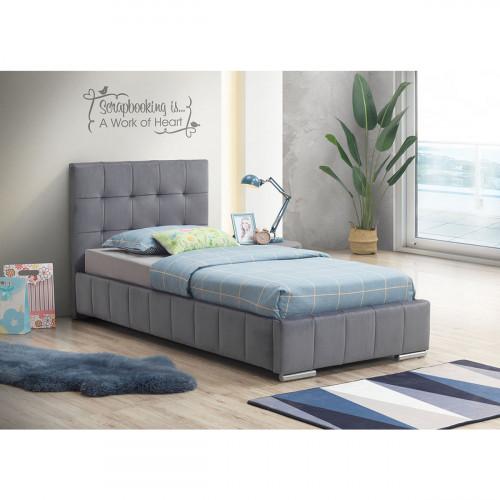 מיטת יחיד 90x190 מרופדת בד קטיפתי דגם ספניש