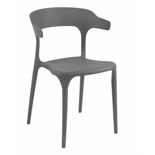 רביעיית כסאות דגם Brasserie אפור X4