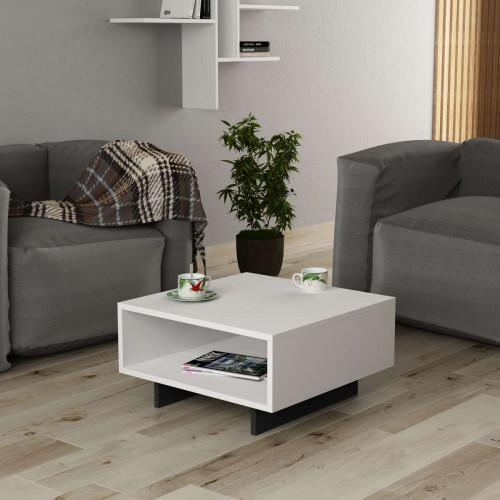 שולחן סלון Hola לבן/אפור מסדרת Decoline