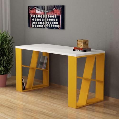 שולחן כתיבה Honey Working table צהוב/לבן מסדרת Decoline