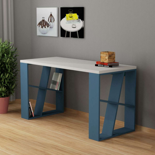 שולחן כתיבה Honey Working table טורקיז/לבן מסדרת Decoline