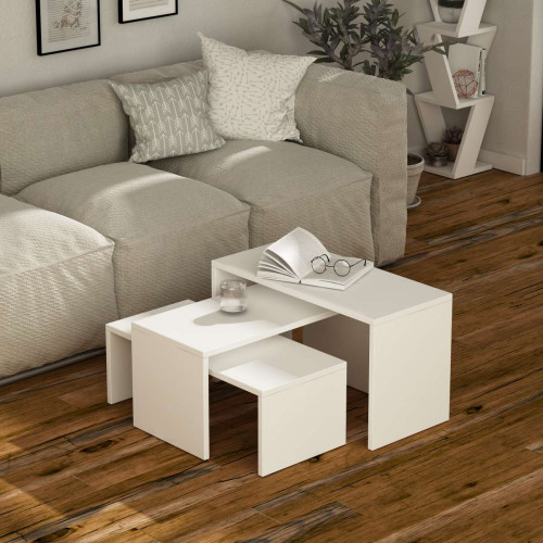 שולחן סלון Kanta לבן מסדרת Decoline