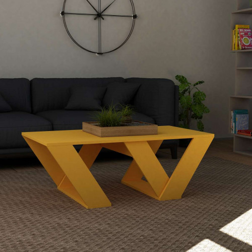 שולחן סלון Pipra צהוב מסדרת Decoline