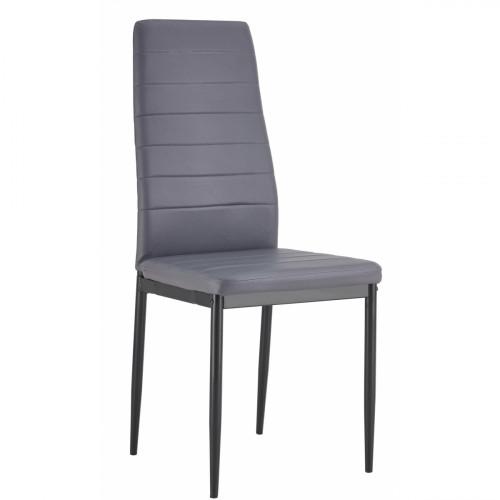 רביעיית כסאות דגם EVORA דמוי עור אפור X4