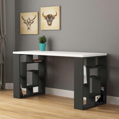 שולחן כתיבה Labirent Working table אפור/לבן מסדרת Decoline