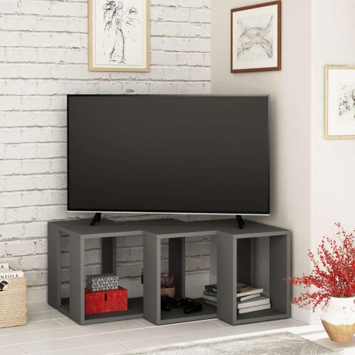 מזנון טלוויזיה פינתי Cons TV אפור 90 ס