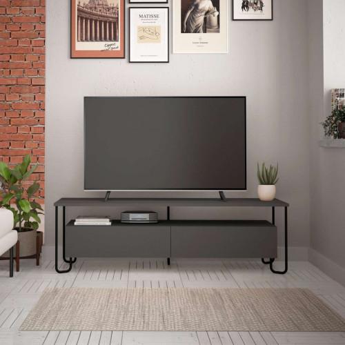 מזנון טלוויזיה פינתי Cornea TV אפור 150 ס