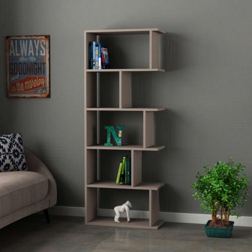 כוננית Tapi Bookcase מוקה מסדרת Decoline