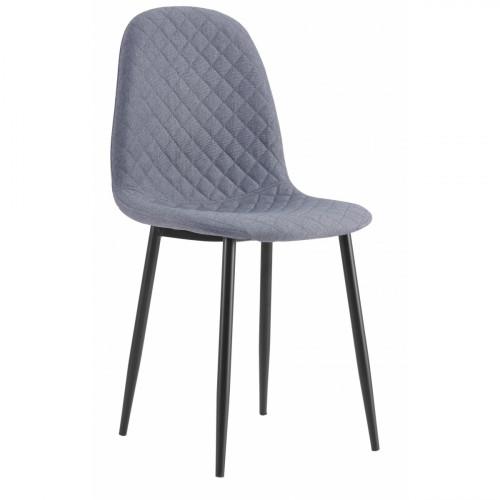 רביעיית כסאות דגם SOLNA CHIC בד אריג אפור X4