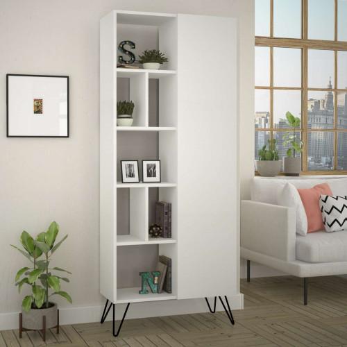 כוננית Jedda Bookcase לבן מסדרת Decoline