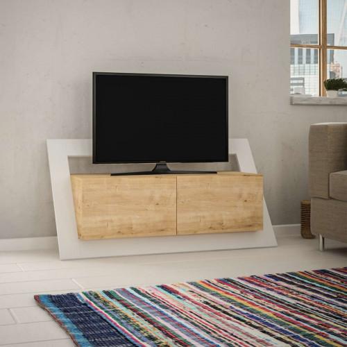 מזנון טלוויזיה Carnaby אלון/לבן 120 ס