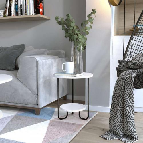 שולחן סלון  CORRO SIDE TABLE לבן מסדרת Decoline