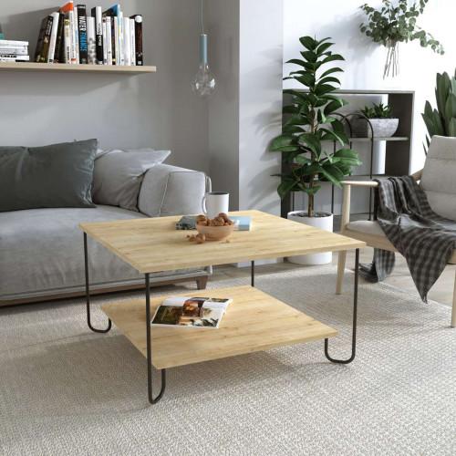 שולחן סלון MARBO COFFEE TABLE אלון מסדרת Decoline