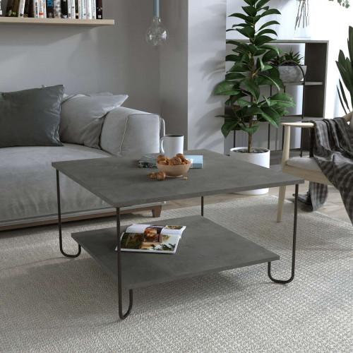 שולחן סלון MARBO COFFEE TABLE אפור וינטייג' מסדרת Decoline