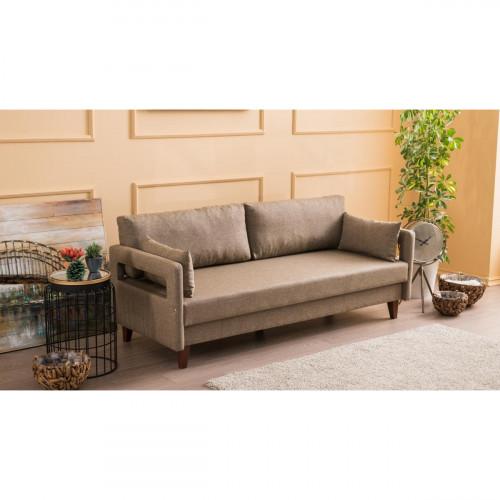 ספה תלת Comfort חום מסדרת Mezza