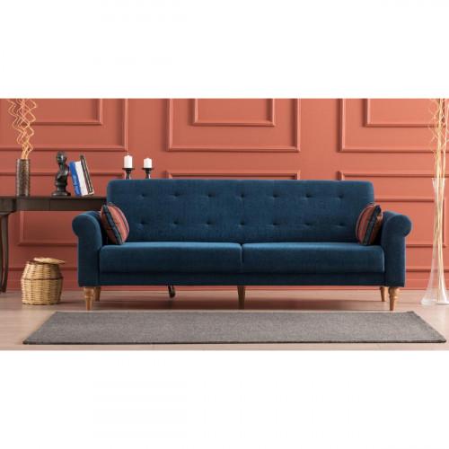 ספה נפתחת למיטה תלת Madona כחול מסדרת Mezza