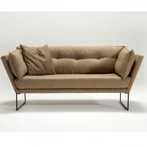 ספה דו Relax בד אריג חום במסדרת Mezza