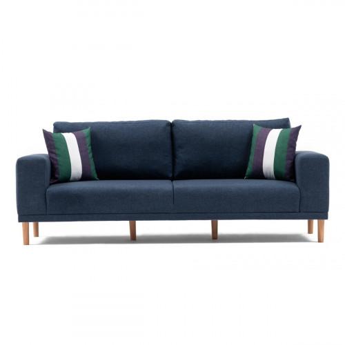 ספה תלת Franz כחול מסדרת Mezza